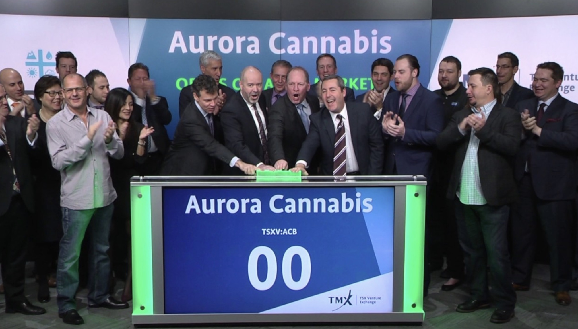 Aurora Cannabis listed on stock markets