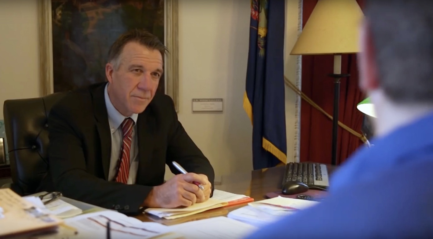 Governor Phil Scott signed a bill legalizing recreational marijuana in Vermont on Jan. 22. (Photo courtesy of PhilScott Vermont via YouTube)