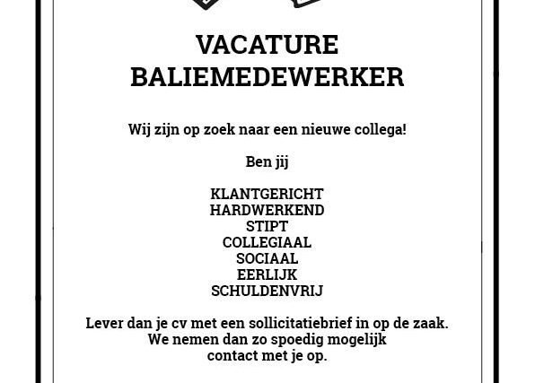 vacature coffeeshop Best Friends Amsterdam job application